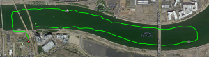 Swim route from my Garmin.  I forgot to hit the lap button until I was in T1.