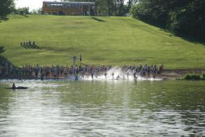 Swim start.  Photo by Devin Miller.