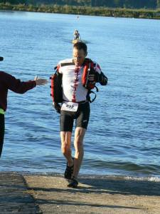 Something new... taking a PFD and gloves off in transition.